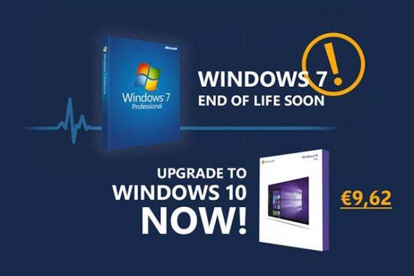 Τα Windows 7 φτάνουν στο τέλος τους, ώρα για αναβάθμιση στο Windows 10 με μόλις €9.62!